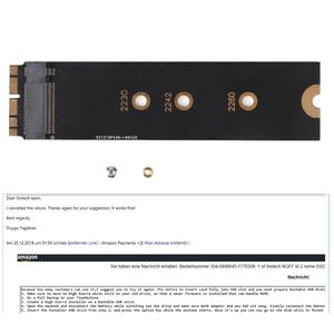 Image 3 - M.2 PCIE NVME SSD M.2 nVME SSD Adapter Card for Upgrade 2013 2015 Year Macs(Not Fit Early 2013 MacBook Pro)
