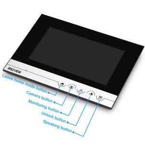 """Image 2 - Gratis Verzending 7 """"Kleur Screen Lcd Ui Display Video Deurtelefoon Intercom Opname Systeem + Rfid Toegang Unlock Deurbel camera"""