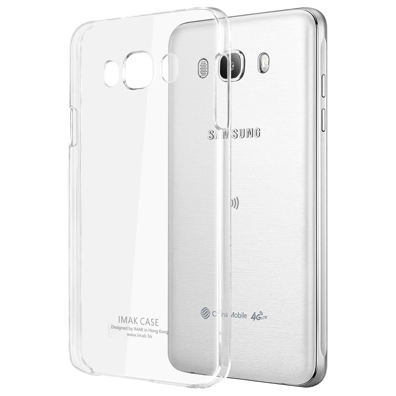 best website 9e462 50070 US $5.99 |IMAK Transparent Plastic Back Cover Case For Samsung Galaxy J7  2016 Clear Crystal PC Hard Phone Case For Samsung J7108-in Fitted Cases  from ...