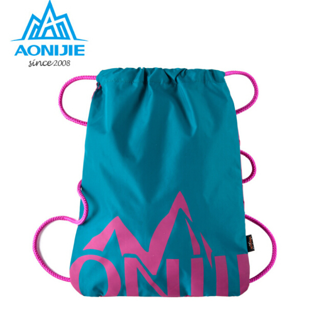 AONIJIE Simple Waterproof Drawstring Backpack Solid Tote Ultralight Bag  Yoga Fitness Gym Bag Sports Bags For 20bb48c83a92b