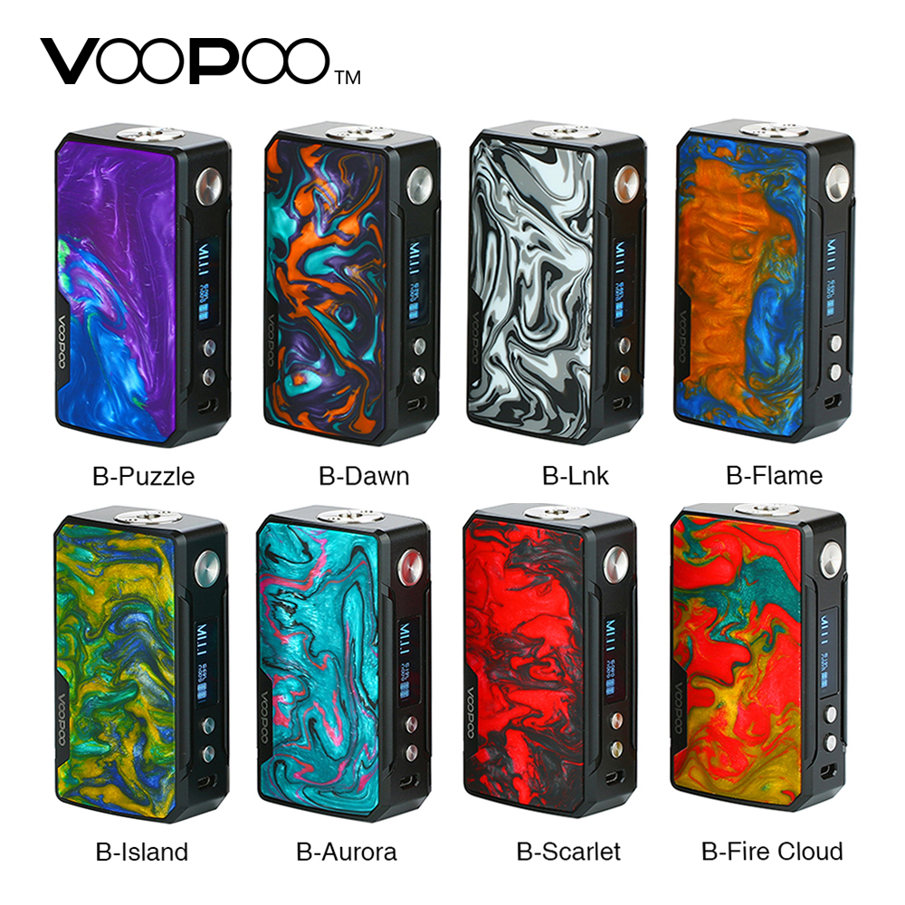 In Stock 177W VOOPOO DRAG 2 Box Mod No 18650 Battery Vape Mod Electronic Cigarette Vaporizer Drag Mod Vs Drag Mini / Shogun Univ