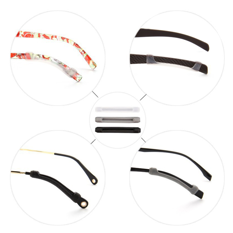 2019 Newly Droppshiping 3 Pairs Glasses Temple Tips Silicone Anti Slip Safety Retainer Ear Hooks for Eyeglass Sunglasses dg88 in Eyewear Accessories from Apparel Accessories