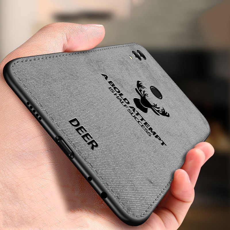 Фото Классический мягкий тканевый чехол для huawei Honor 8X Силиконовые Рамка олень узор