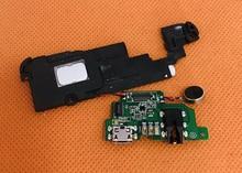 "Used Original USB Plug Charge Board+Loud speakrer For Leagoo T5 MT6750T Octa Core 5.5"" FHD 1920x1080 free shipping"