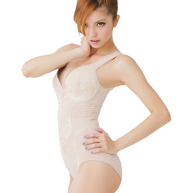 63c13c2f8 Hot Shapers Lace Bodysuit Underwear Tanktop Slimming Bodybuilding Women  Estetica Corporal Shapewear Stomach Shaper