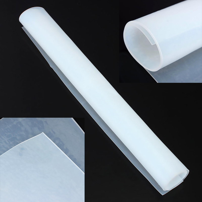 1pc Translucent 1mm Thickness Silicone Rubber Sheet Plate Mat 500x500mm with High Temperature Resistance size length width thickness 100mm 100mm 3mm wear resistant high temperature resistance peek plate sheet