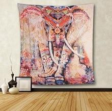 Lótus mnadala elefante tapeçaria decoração da parede pendurado indiano casa hippie boêmio tapeçaria para dormitórios tecido de poliéster arte da parede