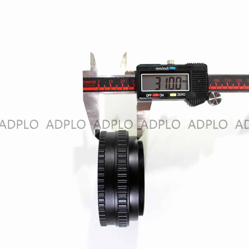 ADPLO 17-31mm Macro Tube adaptateur 17mm à 31mm M65 à M65 monture lentille réglable mise au point hélicoïdal