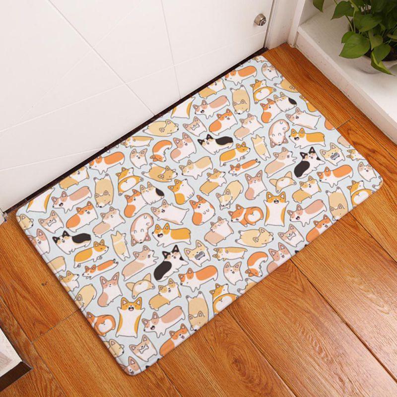 Lovely Animal Geometry Carpet Mats Creative Rugs Washable Bedroom Non Slip Floor Area Rug For Living Room New