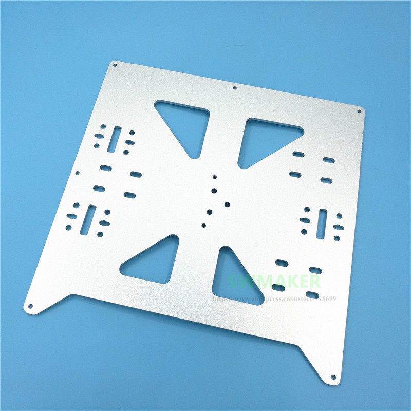 Reprap Prusa i3/Anycubic MEGA i3 anodized Aluminium alloy heated bed support Y carriage tray 3D printer parts