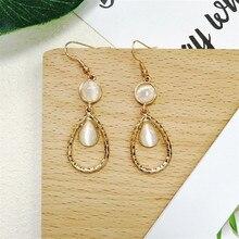 Green water droplets eardrop Retro opal earrings 2018 Ms jewelry wholesale fashion geometry