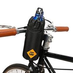 1pc Winter bidon rowerowy izolowana torba pokrowiec na butelkę przenośna kierownica rowerowa torba zapinana po bokach kierownica Stem Bag Outdoor w Bidony rowerowe od Sport i rozrywka na