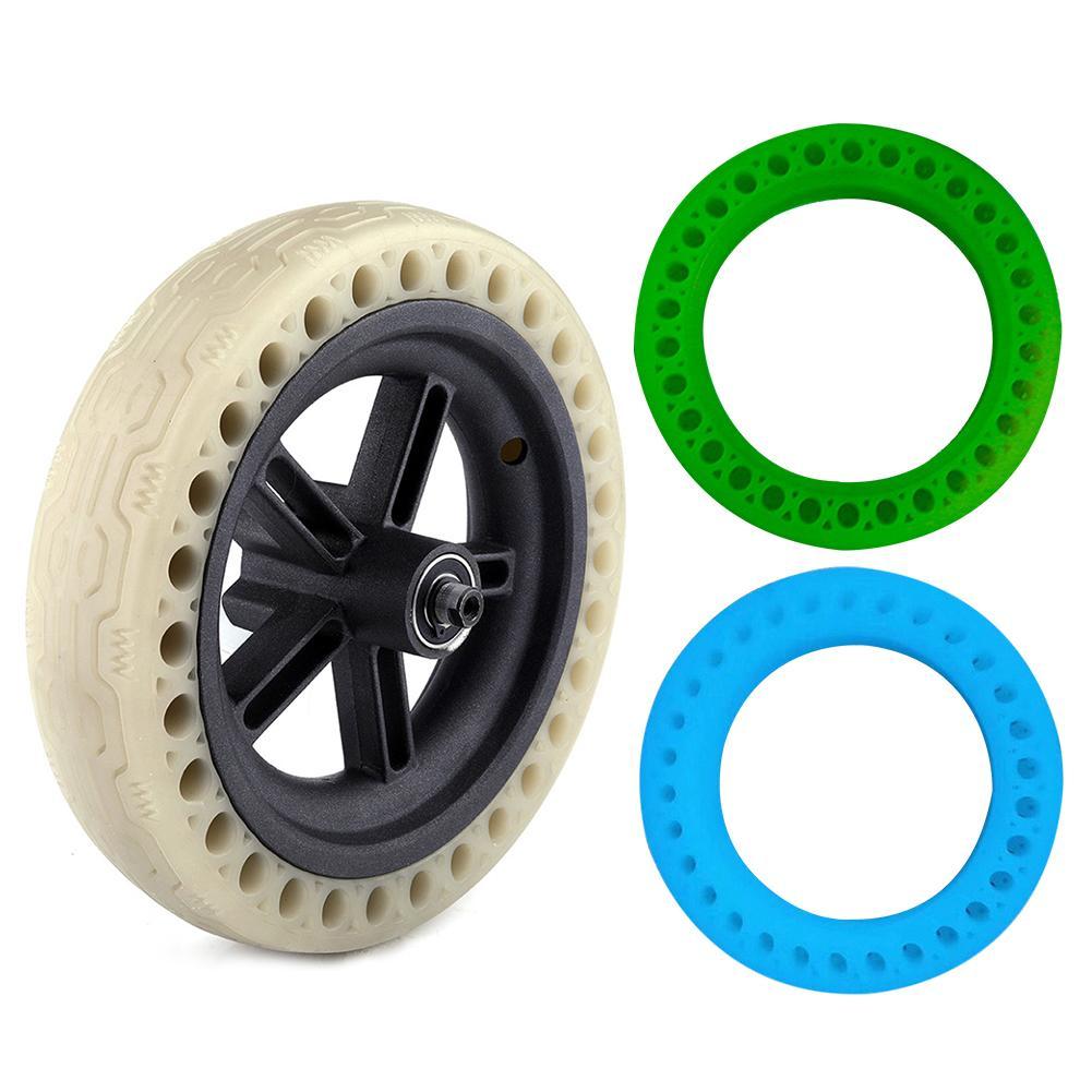 Roues solides fluorescentes de pneu pour le Scooter électrique accessoires solides de Scooter d'absorption de choc de pneu pour Xiaomi M365