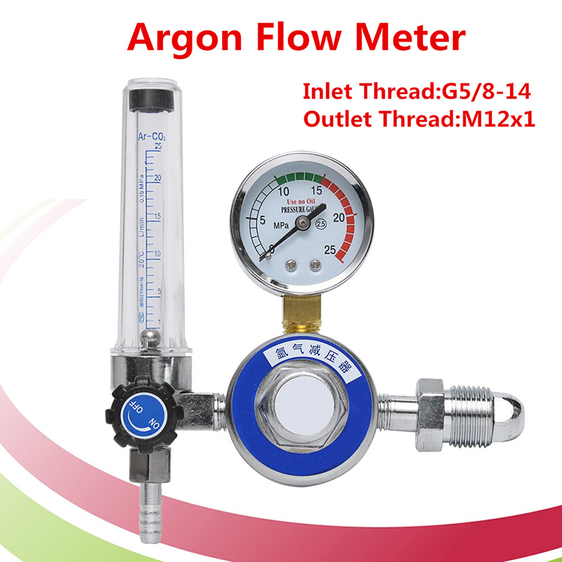 High Quality AR Reducer Pressure Gas Flowmeter Argon Regulator For Tig Welding Machines Welding Accessories factory direct carbon dioxide gas welding gas mixture co2 pressure reducer heating accessories table gh100