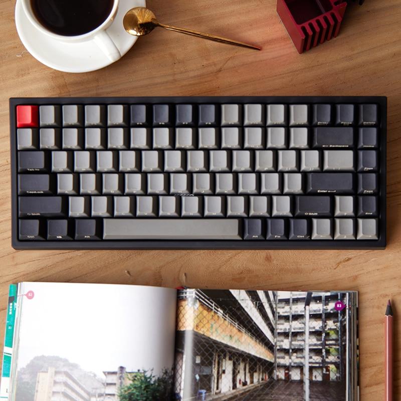 Keycool 84 mini mechanical keyboard cherry mx clear switch brown PBT keycap mini84 compact game keyboard
