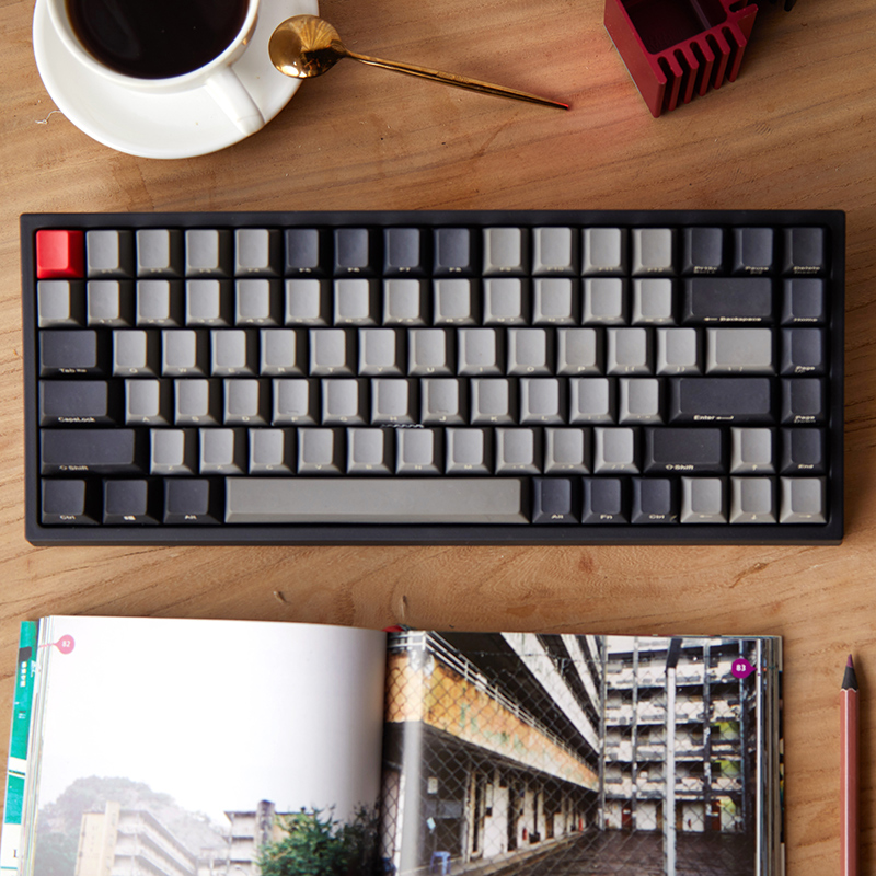 <font><b>Keycool</b></font> <font><b>84</b></font> mini mechanical keyboard cherry mx clear switch brown PBT <font><b>keycap</b></font> mini84 compact game keyboard detachable cable image