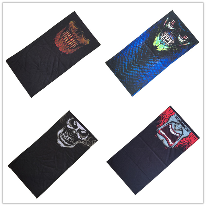 Multifunction Magic Sport Punk Cool Bandana  Bicycle Motorcycle Scarf Headband Variety Turban Hood Magic Veil Head Skull Scarf