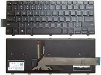 SSEA New black keyboard backlit For Dell Inspiron 14 3000 series 14 3441 3442 3443 laptop US keyboard