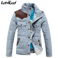 New Letskeep 2016 Mens Winter duck down coat patchwork casual snow parka jacket men warm thicken jaquetas masculina S-3XL,MA179