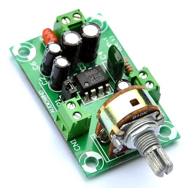 Battery Supply Audio Mono Amplifier Kit, NJM386D, LM386Battery Supply Audio Mono Amplifier Kit, NJM386D, LM386