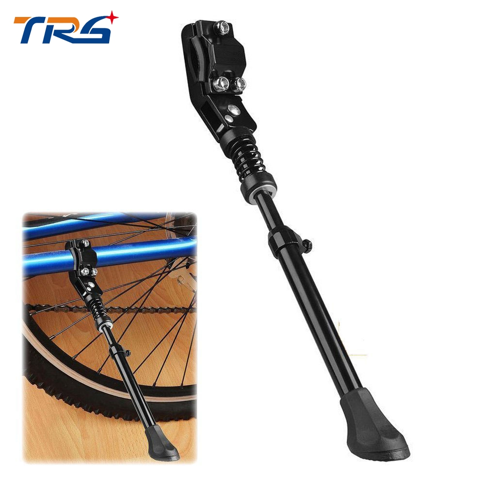 """Black Adjustable Strong Durable Aluminum Alloy Side Anti-Slip Kick Stand Fits 16\"""" - 29\"""" inch wheel tire cycling mountain bike"""