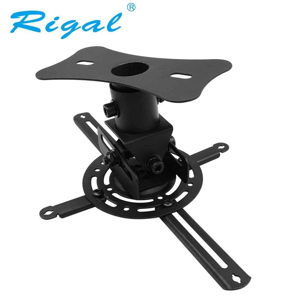 Rigal Universal LED HD Projector Ceiling Mount Wall Bracket Holder for Projector Beamer Hanging Lift Accessories for RD806 RD817