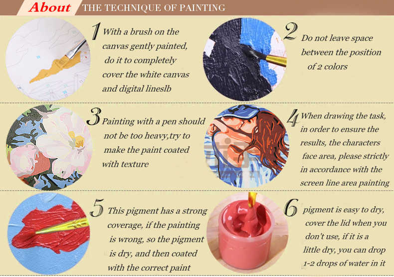 Colorful Abstract Lion Framed Picture Swan Painting Calligraphy DIY Painting By Numbers Coloring By Numbers 40cm*50cm