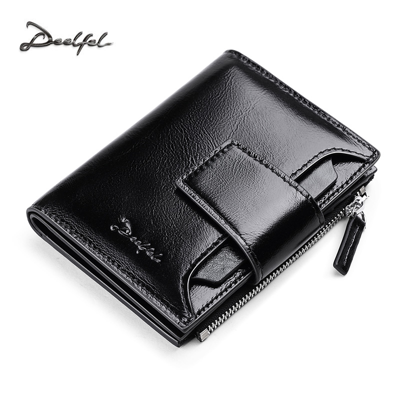 DEELFEL Genuine Leather Men Wallets Short Coin Purse Small Vintage Wallet Cowhide Leather Card Holder Pocket Purse Men Wallets simline genuine leather men wallet men s vintage crazy horse cowhide short wallets purse with coin bag pocket card holder male