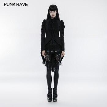 PNUK RAVE Women Fashion Victorian Vintage Style Jacket Coat Fashion Kera Lace Buttons Long Jacket Evening Party Female Coat