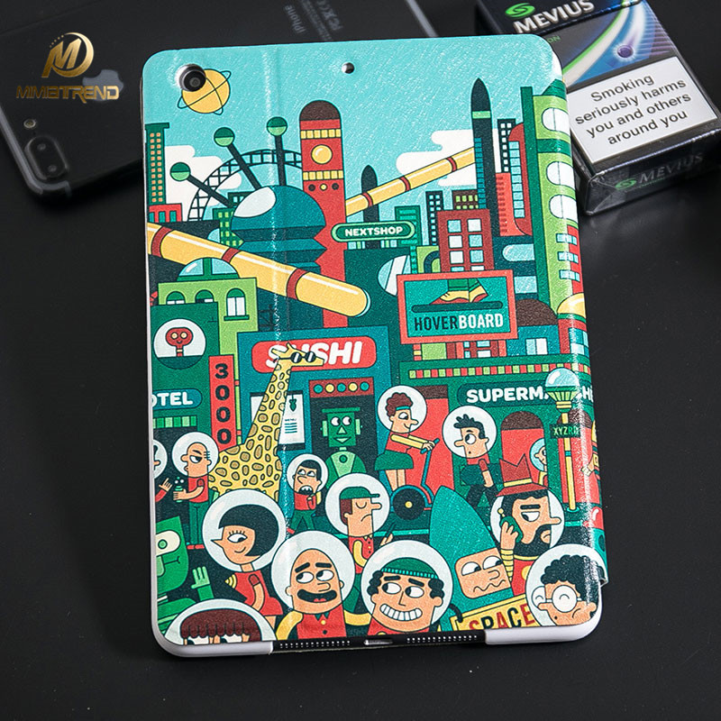 Mimiatrend Cartoon Cover Case for 2017 New iPad 9.7 iPad 2 3 4 for New iPad 2017 Model A1822 Flip Stand Capa Para+Film +Pen Gift