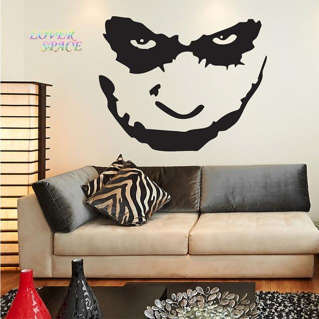 Batman the joker wajah dinding decal sticker art vinyl mural stiker dinding dekorasi rumah untuk kamar
