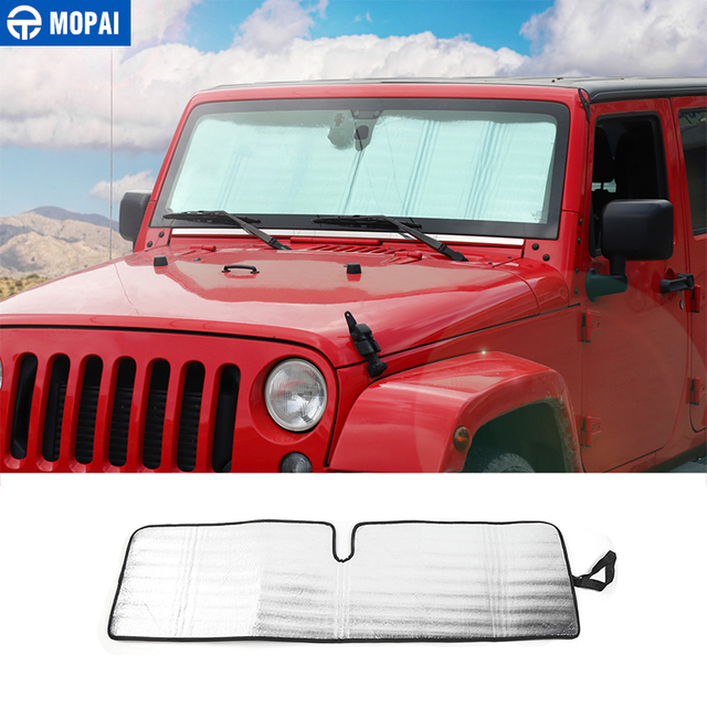 MOPAI Car Front Anti UV Ray Window Sun Windshield Sunshade Shade Cover for Jeep Wrangler TJ JK 1997-2017 Car Accessories Styling