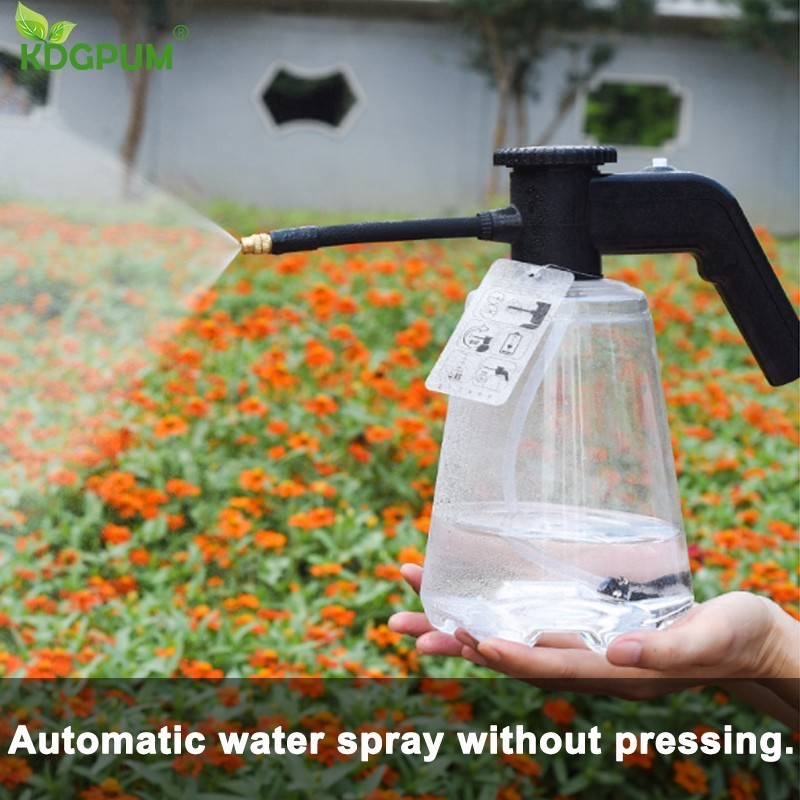 2L Garden Electric Sprayer Pressure Sprayer Nozzle Jardin High Pressure Spray Bottle Water Gun Gardening Watering