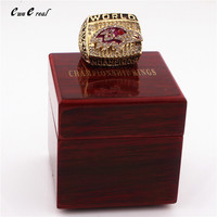 Manufacturers Quick Delivery 2000 Baltimore Ravens Champion Rings Replica And Upscale Ring Wooden Box Friends Gift