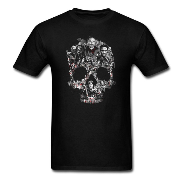 242eabe25 Negan Skull Graphic T Shirt Men and women tee sizeS XXXL-in T-Shirts ...