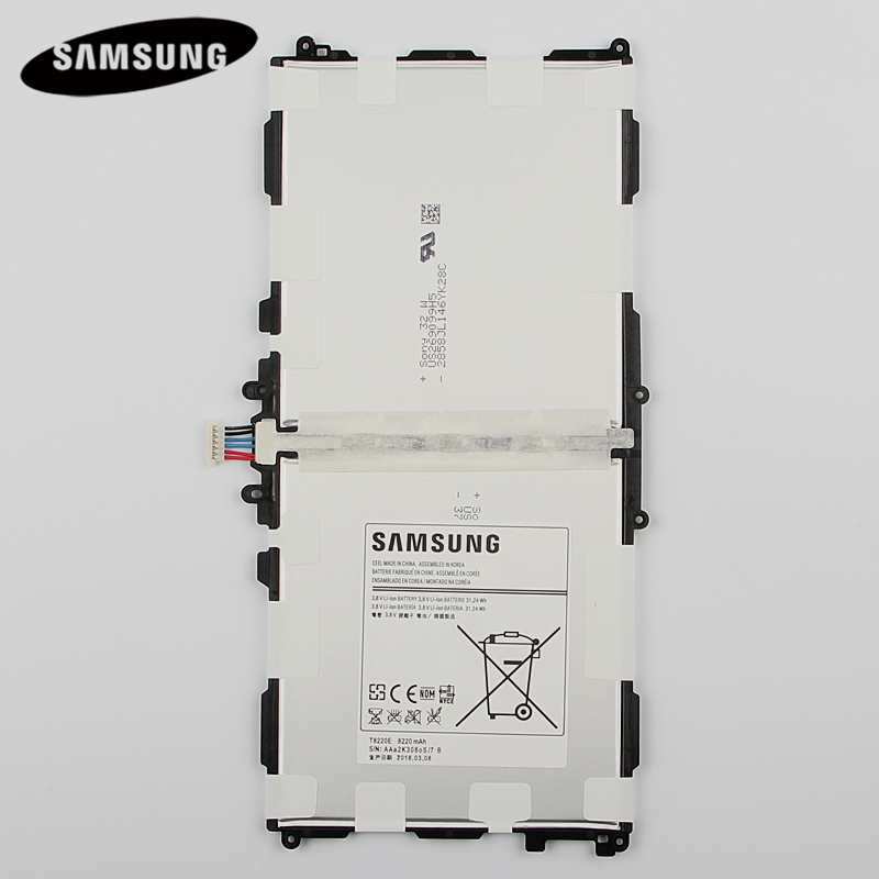 Original Tablet Replacement Battery T8220E for Samsung Galaxy SM-P601 P600 T520 P601 P605 P607 Note 10.1 2014 Edition 8220mAh