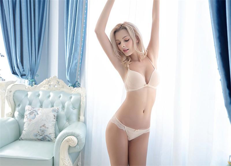 fb923a53e3 Hollow transparent lace sexy underwear vest no rims bra sets Deep VUSD  25.99 set