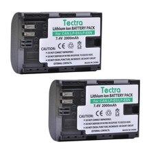 Tectra 2PCS LP-E6 LP-E6N LPE6 LPE6N Li-ion Battery for Canon EOS 5D 5D2 5DS R Mark II 2 /III three 6D 60D / 60Da 7D 7D2 7DII 70D 80D