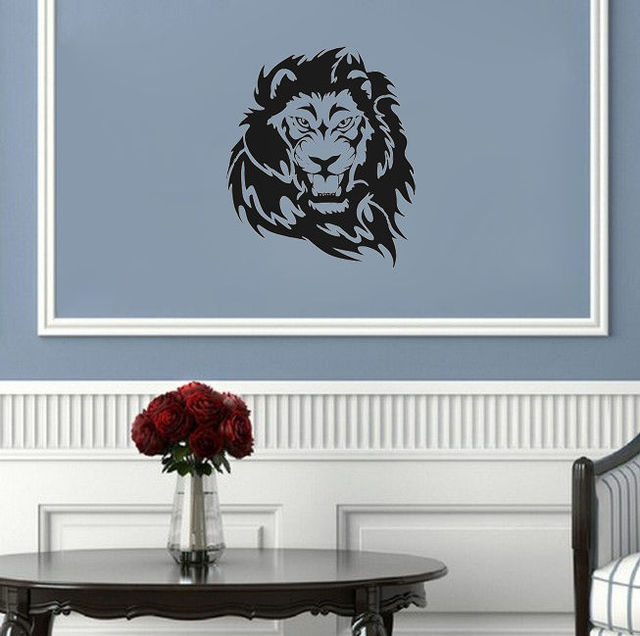 Vinyl Animal Wall Sticker Design Lion Art Wall Decals Home Living Room  Decorative Wall Poster Y