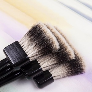Image 1 - 2520BS high quality badger hair wooden handle art paint artistic painting brushes acrylic brush pen for acrylic oil drawing
