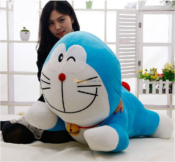 Fancytrader 39'' / 100cm Super Cute Stuffed Soft Huge Plush Lovely Lying Doraemon Toy, Nice Gift For Baby, Free Shipping FT50847