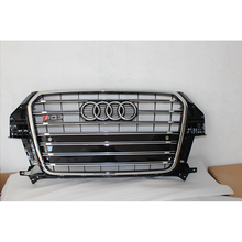 For audi Q3 SQ3 Style Chrome Frame Black Front Bumper Grill Grille 2013~2015