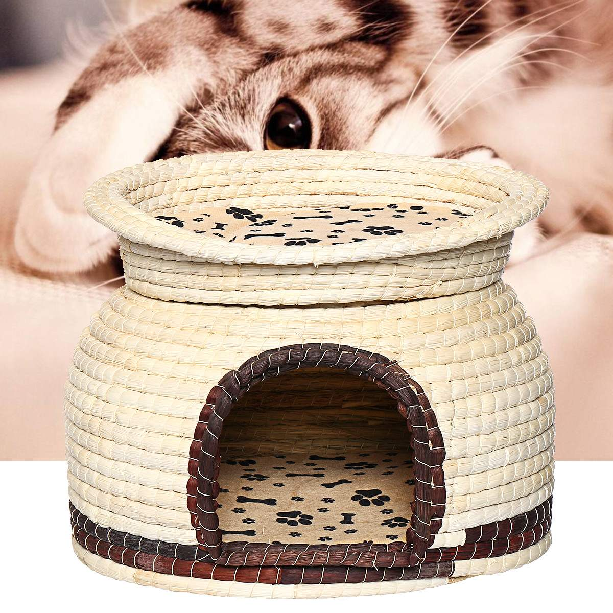 dual-use-pet-dog-cat-soft-bed-house-kennel-breathable-2-layers-puppy-cushion-basket-cage-pet-supplies-cat-accessories-44x33cm