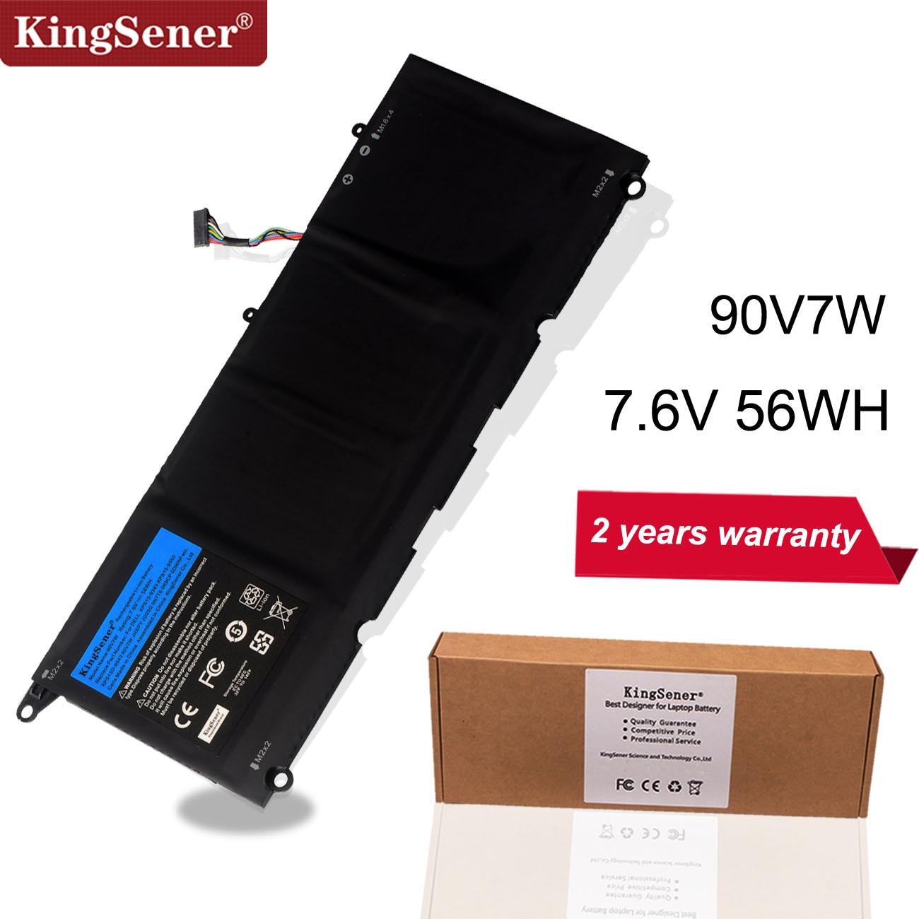 KingSener 90V7W JHXPY JD25G 090V7W Laptop Battery For Dell XPS 13 9343 XPS13 9350 13D-9343 0N7T6 5K9CP RWT1R 0DRRP 7.6V 56WH