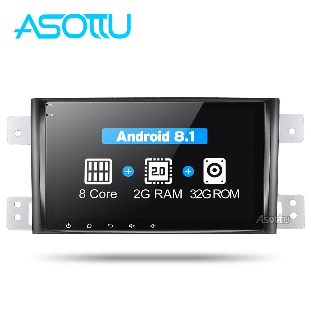 Asottu IPS Android 8 1 car dvd for Suzuki Grand Vitara 2005 2012 multimedia headunit GPS