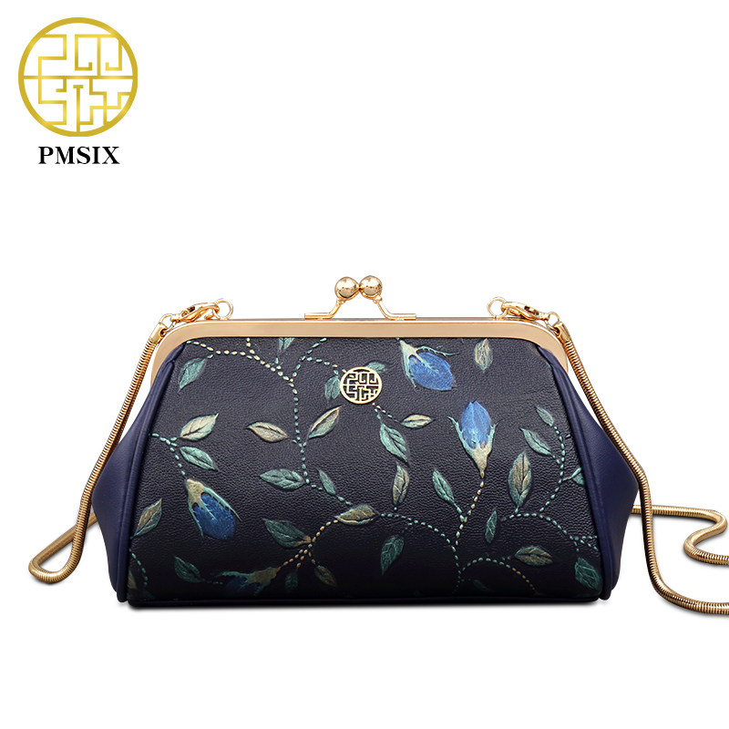 2017 New Arrivals Embossed Floral Designer Leather Chain Shoulder Bag Mini Women Messenger Bags Small Crossbody Bags 520026 2017 fashion all match retro split leather women bag top grade small shoulder bags multilayer mini chain women messenger bags