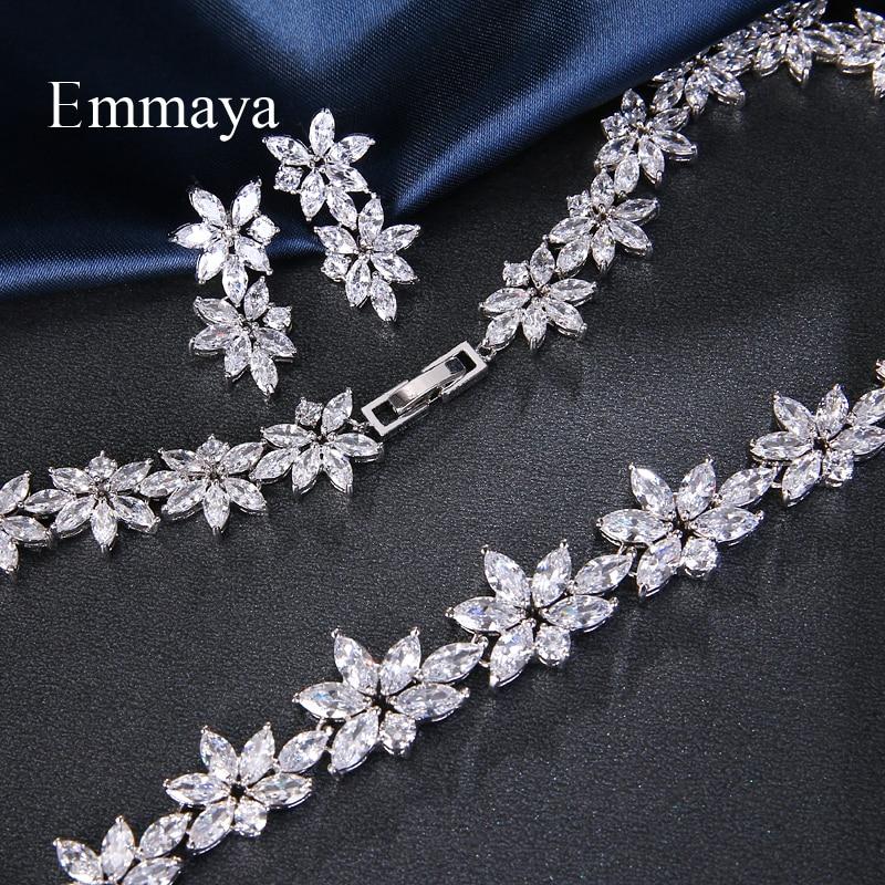 Emmaya elegante luxo branco aaa zircon cristal