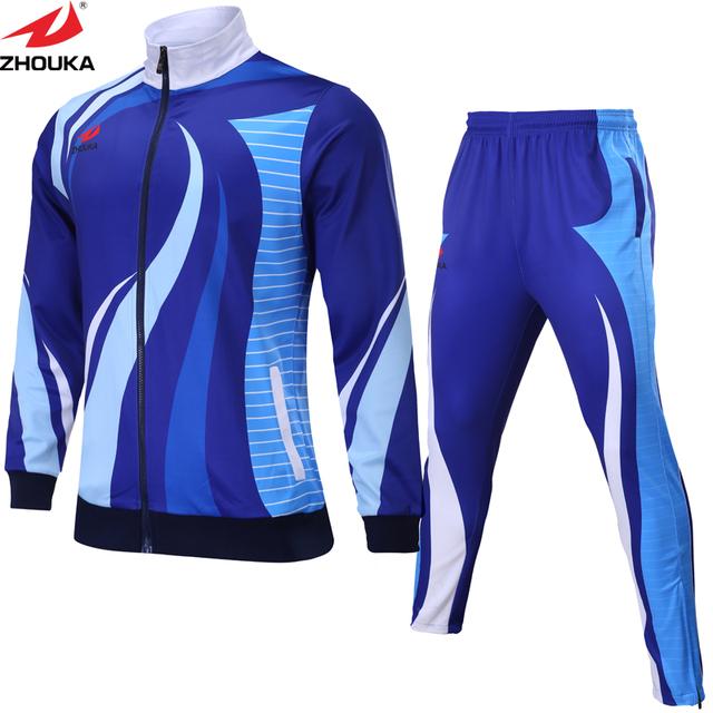 bf4b84fd351 Custom your design logo soccer track suit winter clothing customization  sublimation soccer football jacket and football pants