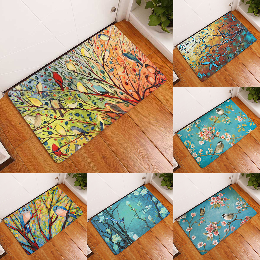 Comwarm Doormat For Entrance Door Oil Pattern Colorful