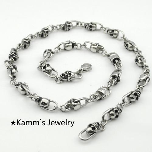 925 Sterling Silver men/'s DRAGON biker necklace chain jewelry 5mm 55cm 21.6inch